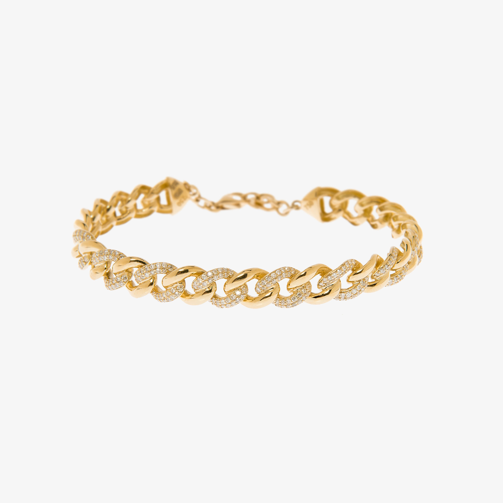 Chain bangle diamond bracelet